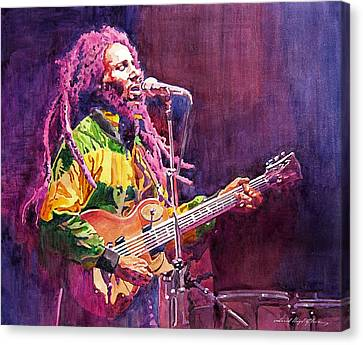 Features Canvas Print - Jammin - Bob Marley by David Lloyd Glover