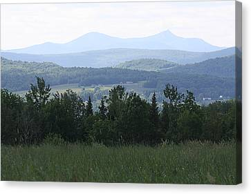 Jay Peak From Irasburg Canvas Print by Donna Walsh