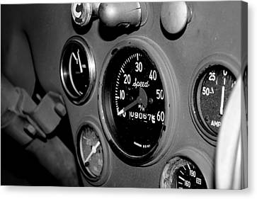 Jeep Gauges Canvas Print by Gina  Zhidov
