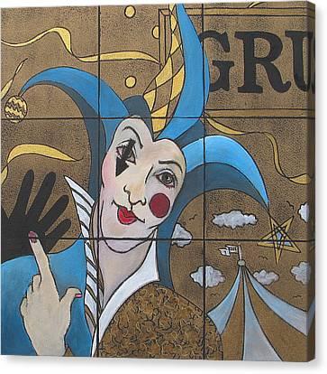 Jester In Blue Canvas Print by Susanne Clark
