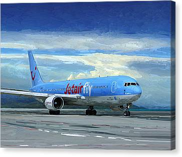 Jetairfly Boeing 767 In Costa Rica Canvas Print