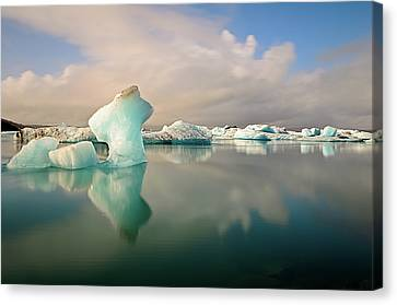 Jokulsarlon Glacier Lagoon Icebergs Canvas Print by Stealing Beauty Photography