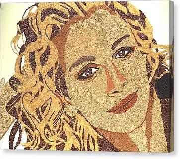 Julia Roberts Canvas Print by Kovats Daniela