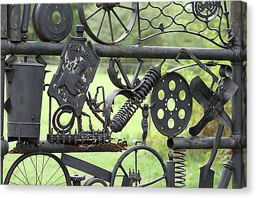 Junk Art Canvas Print by Marilyn West