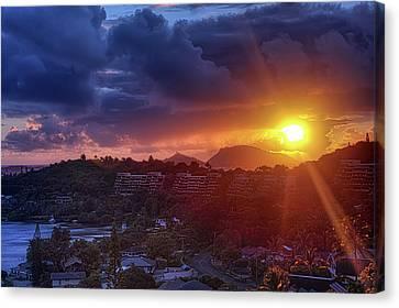 Kaneohe Sunrise Canvas Print by Dan McManus