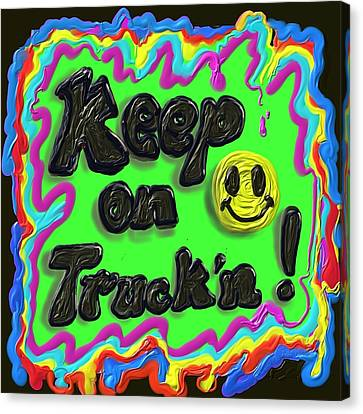 Keep On Truck'n Canvas Print by Kevin Caudill