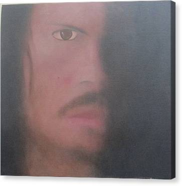Canvas Print featuring the painting Kirk Hammett by Patricia Cleasby