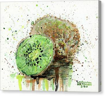 Kiwi 1 Canvas Print by Arleana Holtzmann