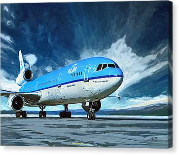 Klm Canvas Print - Klm Md11 by Nop Briex