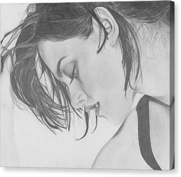 Kristen Stewart Canvas Print by Maria Johnson
