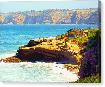 La Jolla Art Canvas Print - La Jolla - Warming Hut by Russ Harris