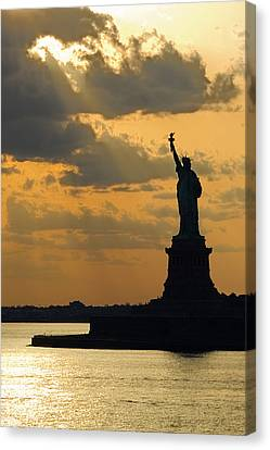 Lady Liberty Canvas Print by Michael Flood