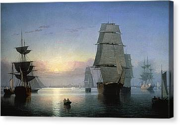 Encbr Canvas Print - Lane: Boston Harbor by Granger