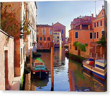 Late Afternoon In Venice Canvas Print by Elaine Plesser