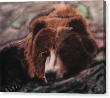 Let Sleeping Bears Lie Canvas Print by Frank  Bingo