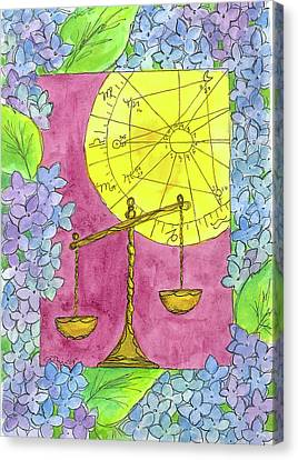 Canvas Print featuring the painting Libra by Cathie Richardson