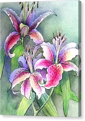 Lilies Canvas Print by Khromykh Natalia