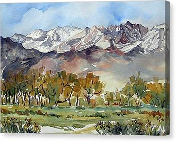Canvas Print featuring the painting Linda's View by Pat Crowther