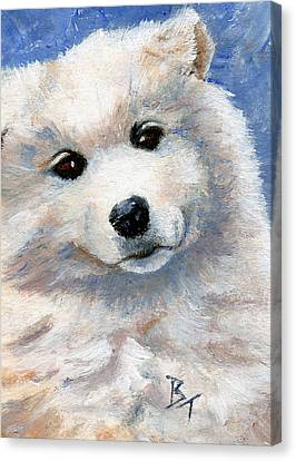 Look At That Face Canvas Print by Brenda Thour