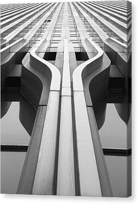 Look Up A Twin Tower Canvas Print by Darcy Michaelchuk