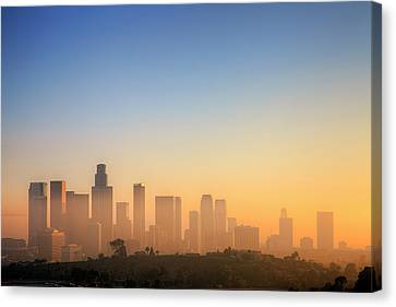 Built Canvas Print - Los Angeles Sunset by Eric Lo