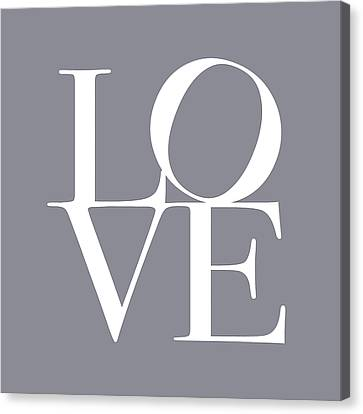 Love In Grey Canvas Print