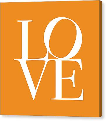 Orange Canvas Print - Love In Orange by Michael Tompsett