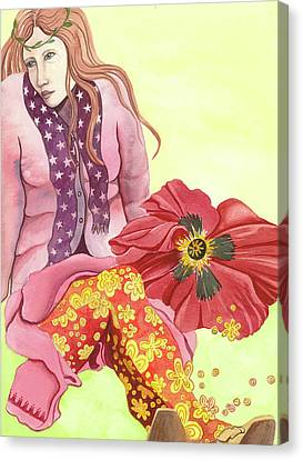 Canvas Print featuring the painting Margaret's Magic Stockings by Sheri Howe