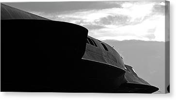 Menacing Blackbird Canvas Print by Alan Raasch