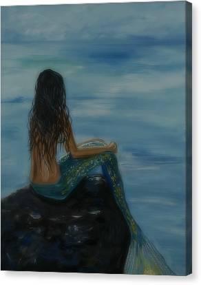 Mermaid Mist Canvas Print by Leslie Allen