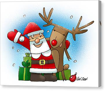 Merry Christmas Canvas Print by Denys Golemenkov