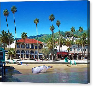 Message In A Bottle Canvas Print by Snake Jagger