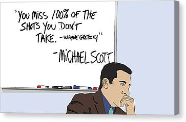 Michael Scott From The Office Canvas Print by Tomas Raul Calvo Sanchez