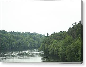 Mighty Merrimack River Canvas Print by Barbara S Nickerson