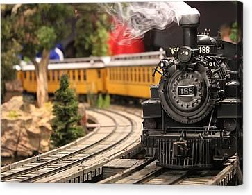 Model Train Canvas Print