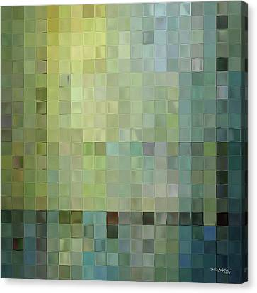 Modern Tile Art One Modern Decor Collection Canvas Print by Mark Lawrence