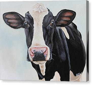 Moowho Canvas Print by Laura Carey