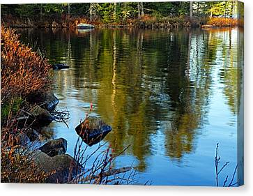 Morning Reflections On Chad Lake Canvas Print
