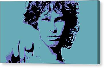 Morrison To My Doors Canvas Print by Jera Sky