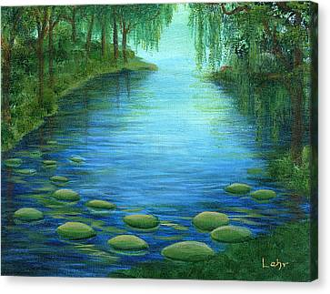 Mossy Cove Canvas Print by Diana Lehr