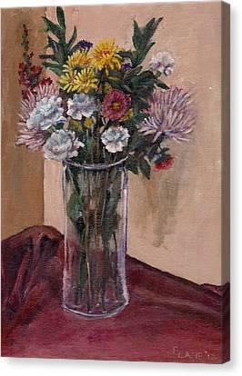 Mother's Day Bouquet Canvas Print by Elizabeth Lane