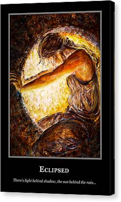Canvas Print featuring the painting Motivational Hope by Nik Helbig