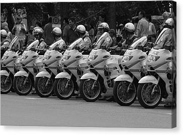Motorcycle Brigade Canvas Print by Robert Knight