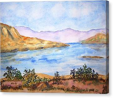 Mulshi Lake Canvas Print by Monika Deo