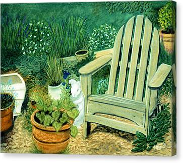 My Garden Chair Canvas Print by Jan Amiss