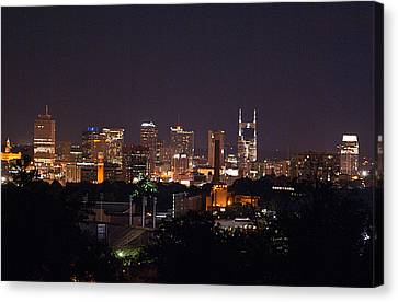 Nashville Cityscape 2 Canvas Print by Douglas Barnett