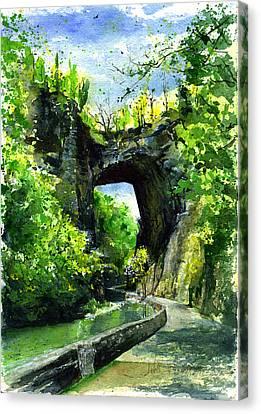 Natural Bridge Virgina Canvas Print by John D Benson