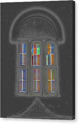 Canvas Print featuring the photograph Night Window by Larry Bishop