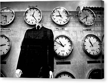 No Head For Time Man Canvas Print by Jez C Self