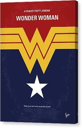 No825 My Wonder Woman Minimal Movie Poster Canvas Print
